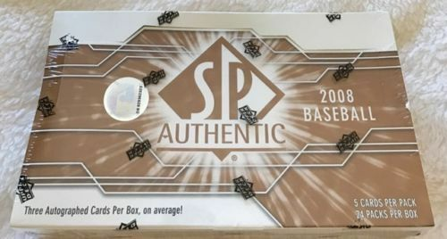2008 SP Authentic BB HOBBY Box 3-Auto ? Kershaw RC Jeter Griffey Chipper Patch