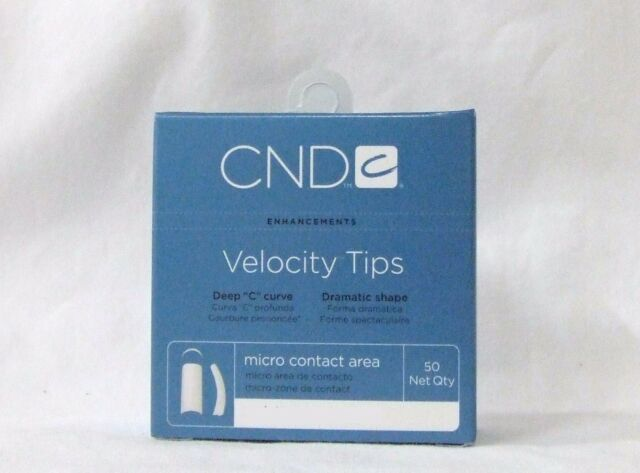 Cnd Creative Nail Design Tips Velocity Natural Refill Variations 50ct Pack