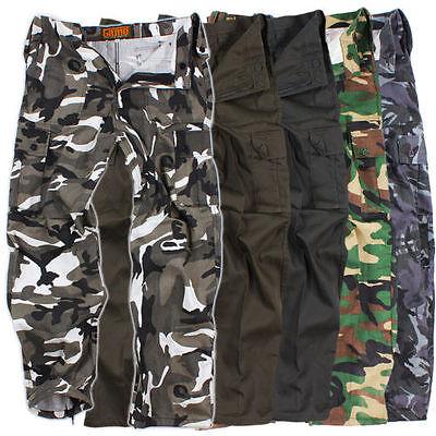 Game Cargo Homme Pantalon Camouflage Armée De Terrain