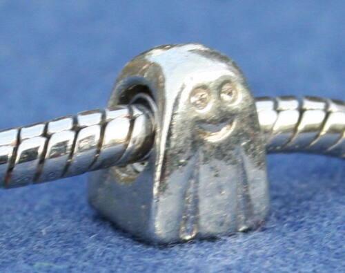 5 X feliz plateado plata pulsera encanto granos Reiki bendito Fantasma En Bolsa De Regalo