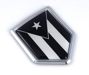 Puerto Rico Chrome Emblem Screw On Car License plate Decal  badge Jamaica