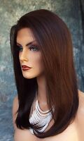 Human Hair Blend Wig Heat Safe Lace Front Clr 4 Exquisite Classy Us Seller 230