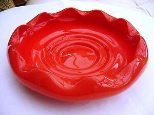 Red Decorative Bowl Art Gl 70 S Ebay