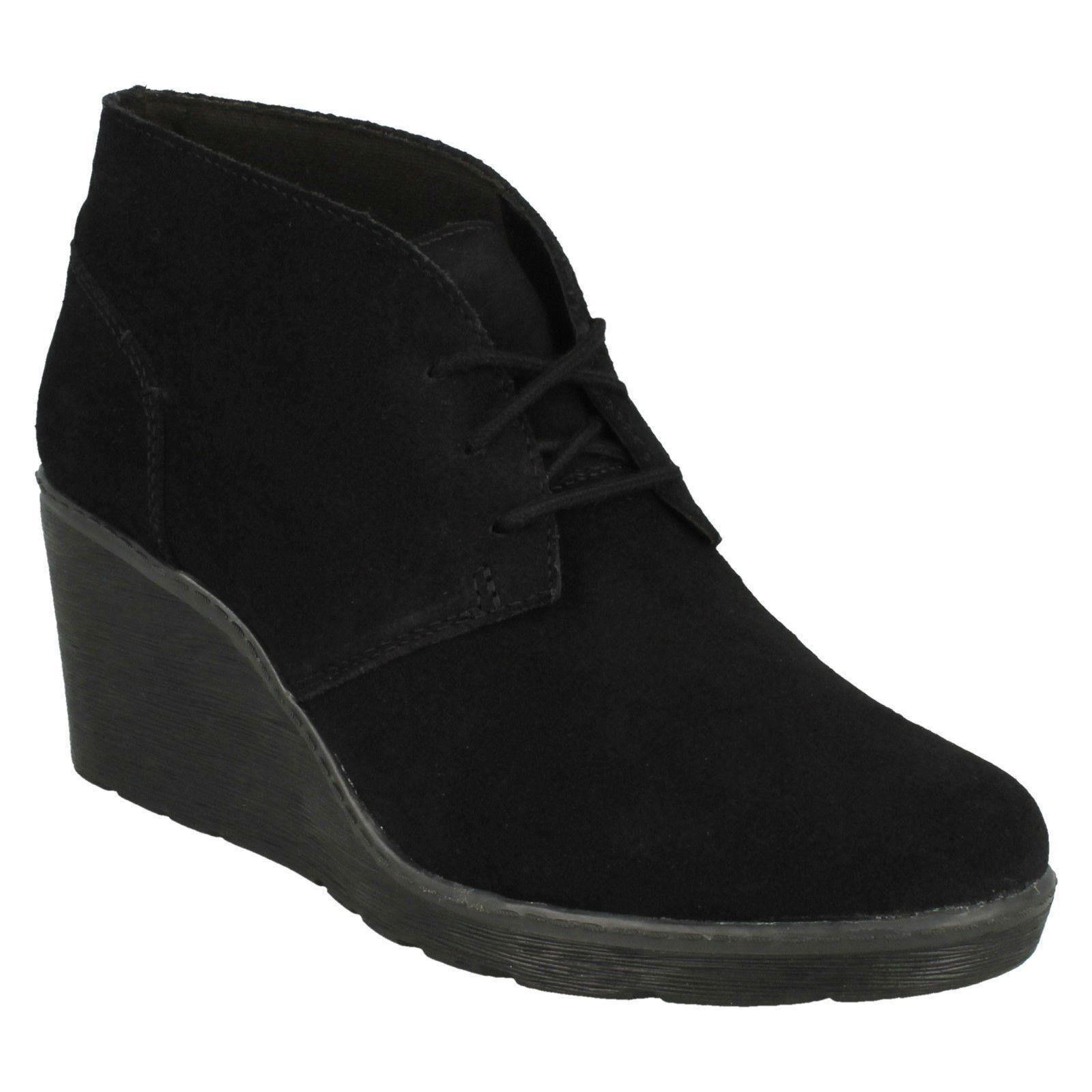 Hazen Encanto Señora Clarks Tacón Con Plataforma Con Con Con Cordones Cuero Inteligente botas al Tobillo Informales  tomamos a los clientes como nuestro dios