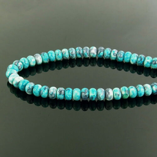 """Multi Color Jade Piedra Rondelle espaciador granos de nieve 15.5/"""" 4x6mm 5x8mm Jewelry hágalo usted mismo"""
