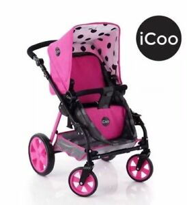 ICOO 3-In-1 Doll Stroller Pram For Kids Role Play Educational By Hauck