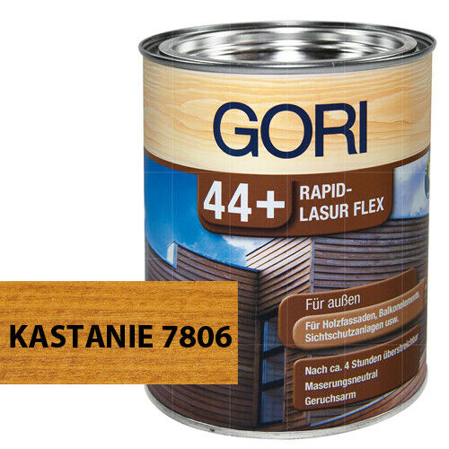 Gori 44+ Rapid-velatura Flex per esterno Castagna 7806 protezione in legno 0,75 L