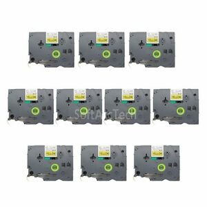 10pk-Black-on-Yellow-Label-Tape-Compatible-for-Brother-P-Touch-TZ-TZe-631-12mm