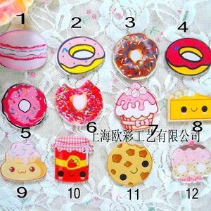 donuts-cookies-dessert-Macarons-BROOCH-Acrylic-Badge-Dress-Jacket-decoration-Pin