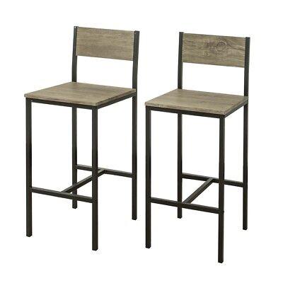 SoBuy Lot de 2 Chaises Tabourets de bar cuisine avec repose pieds,FST53x2,FR | eBay