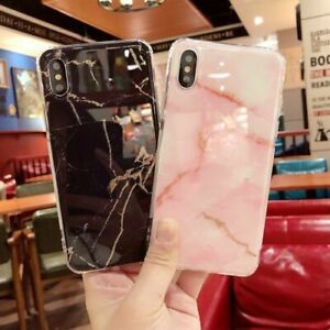 competitive price 4fb48 75b36 Glitter Marble Silicone Case Shockproof Soft Cover For iPhone 7 Plus XS 6s  + 8 X