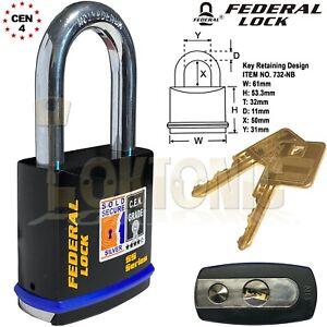 Federal-FD732-Sold-Secure-Silver-CEN-4-Super-Heavy-Duty-Solid-Steel-Padlocks