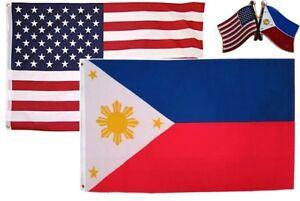 Wholesale USA /& Austria Eagle Country 3x5 3'x5' Flag /& Friendship Lapel Pin
