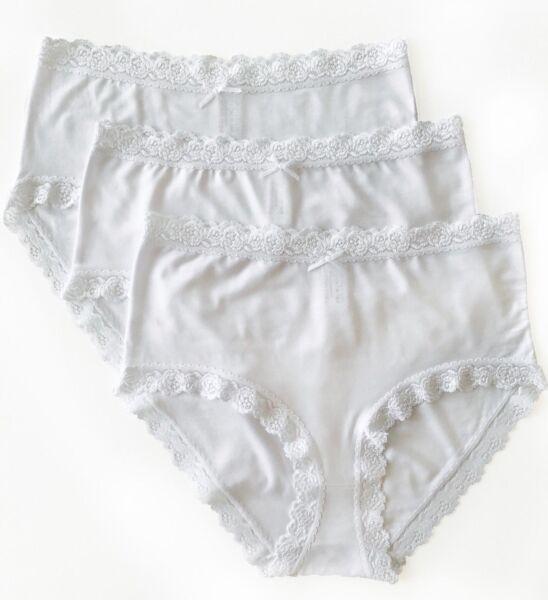 Nina von C. 3er Pack Taillenslip Slip mit Spitze 95% Modal weiß schwarz nude NEU