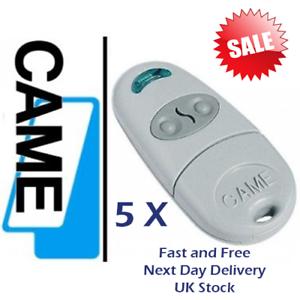 5 X CAME TOP 432NA 001TOP-432NA gate remote 433,92 Mhz UK Stock.