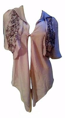 Pretty Angel Brown Bolero / Vest Single Button Closure Size L 88310 NWT
