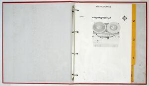 Aeg-Telefunken-Magnetophone-12A-Original-Manuel-de-Service-Diagram-Pieces-List