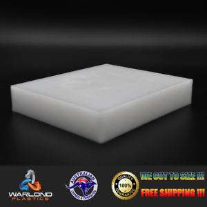 FREE SHIPPING!!! NATURAL A4 SIZE 297x210x3mm HDPE SHEET WHITE