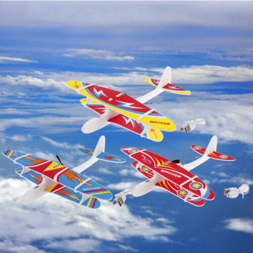 Airplanes Capacitor Electric Hand Throwing Glider Aircraft EVA Toy Plane MoBIUS