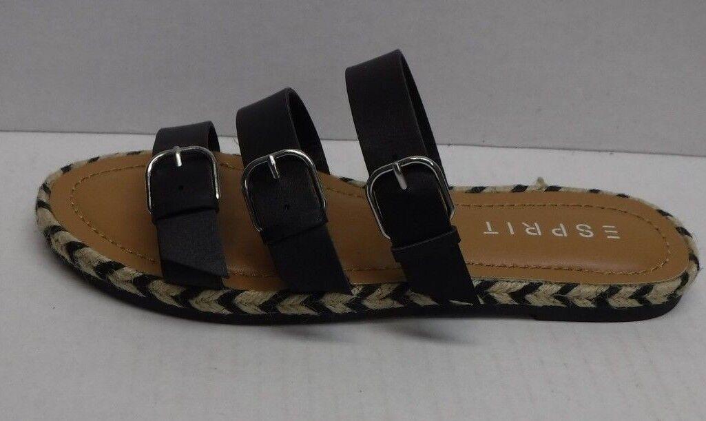 Espirt Size 7.5 Black Sandals New Womens shoes