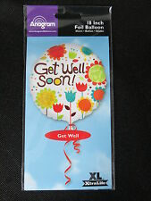 Get Well Soon Balloon 18 inch flowers foil mylar Anagram