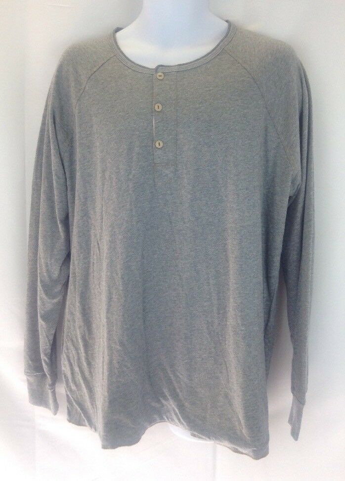 JEREMIAH CLOTHING Mens Cotton Button Front Grey Long Sleeve XL