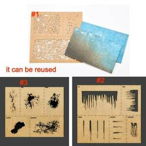 LIANG-0001 Weathering Airbrush Stencils Tools for 1//35 1//48 1//72 Scale Model