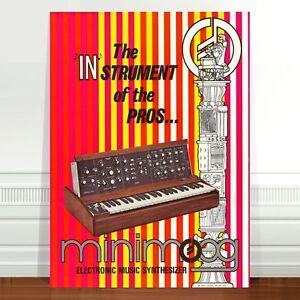 Mini-Moog-Model-D-1970-039-s-Ad-Poster-Art-CANVAS-PRINT-24x18-034-minimoog