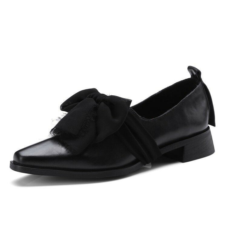 Fashion Womens Loafers Flat Bowknot Ladies Casual Work School shoes shoes shoes Pumps Size 07e426