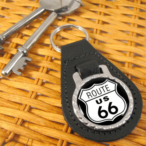 Route 66 Leather Key Fob