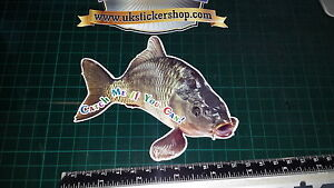 Crafty Hunter Coarse Bait Angling Carp Fishing Sticker catch me if you can!