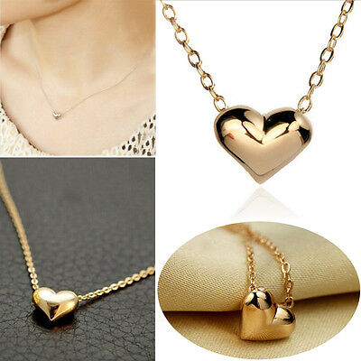 Hot Fashion Jewelry Heart Bib Statement Chain Pendant Necklace Gold Plated HG