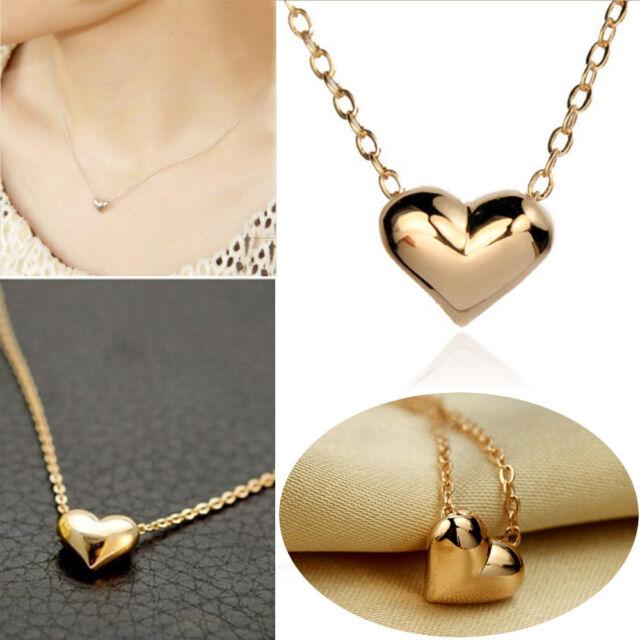 Hot Fashion Jewelry Heart Bib Statement Chain Pendant Necklace Gold Plated HG