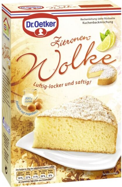 Dr Oetker Zitronen Wolke 430 G 100g 1 Kuchen Backmischung Gunstig