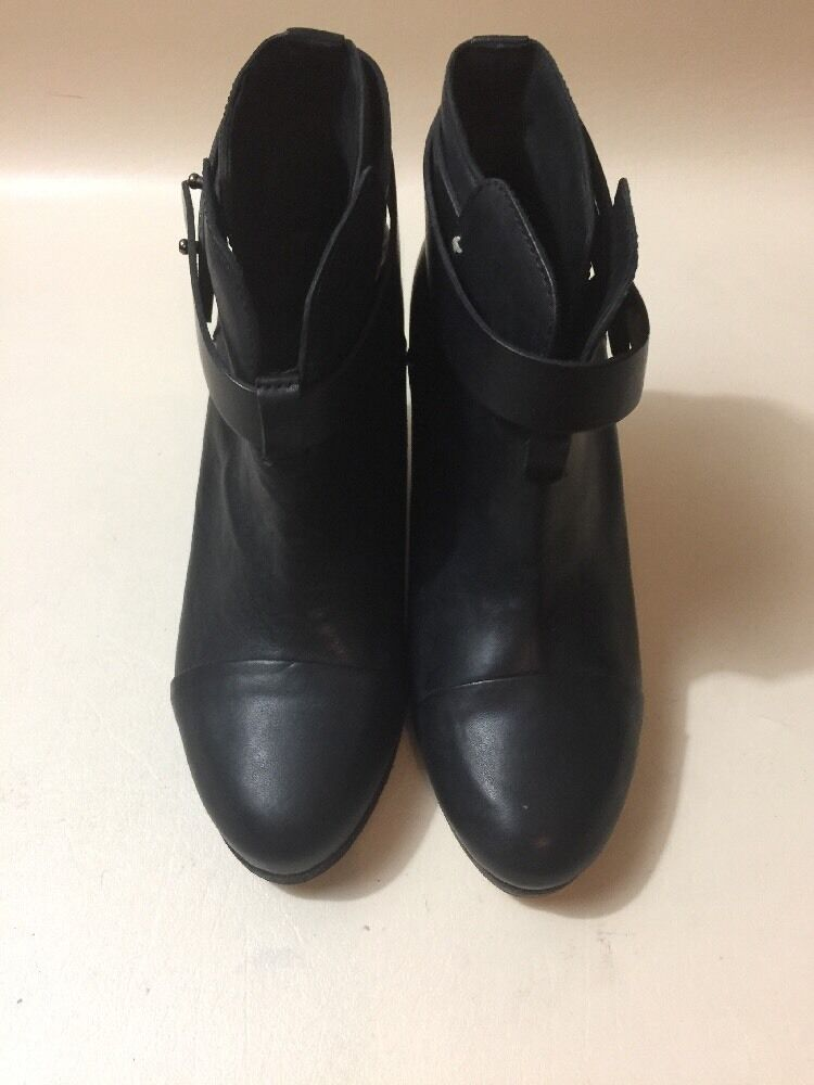 Rag & Bone Arrow Black Leather Boots Woman's Size 7
