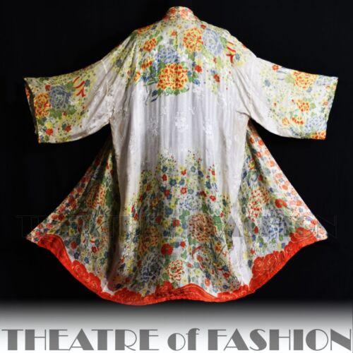 Osfa soie Wedding Kimono Vintage Antique Gatsby 1920 Vamp Deco Années en veste manteau FX7Wwq4