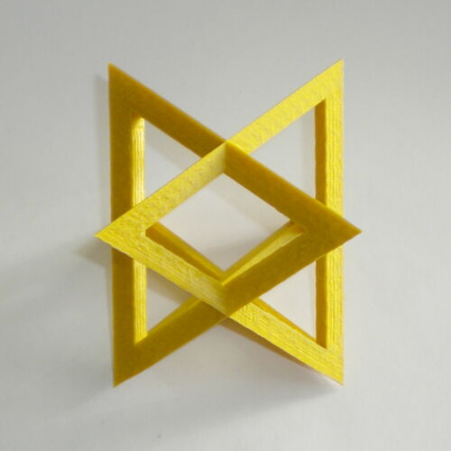 3D Printed Star Tetrahedron Home Office Decoration Gift Christmas Ornament