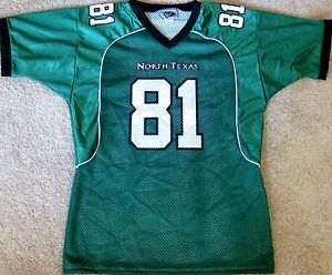 detailed look 052f5 92ca8 Details about NORTH TEXAS MEAN GREEN YOUTH NCAA FOOTBALL JERSEY #81 YOUTH  LARGE OR XL NEW!