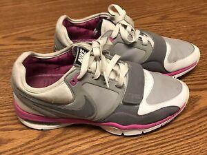 Pink White Gray Running Shoes Sz 7.5   eBay