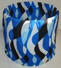 Blue Black Waves Tubular Multi Function Headwear Scarf Balaclava Beanie Cap