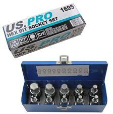 10pc Impact HEX BIT Socket Set by US PRO Tools 1//2 Drive 4mm to 19mm Allen Key
