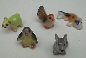 Lot De 5 Animaux Miniature En Céramique 2 à 3 Cm S1-15 Yrhe41kb-08005343-557138805