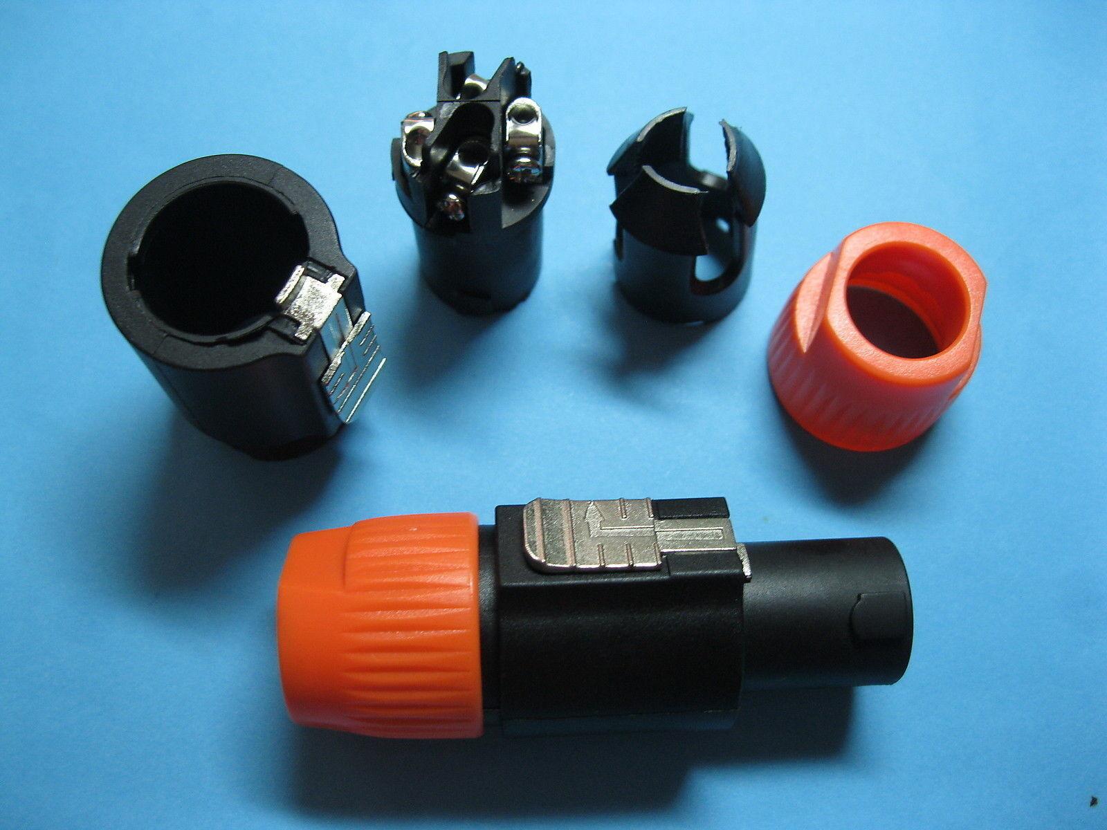100 piezas Speakon compatible cable de audio audio audio 4 Polos Macho Conector Color Rojo 5285 c488e4