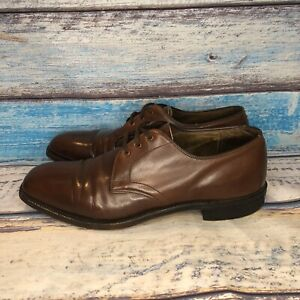 E-T-WRIGHT-Brown-Leather-Lace-Up-Oxford-Dress-Shoes-Men-039-s-US-10-5-D