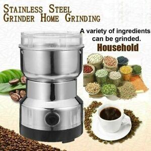 Elektrische Kaffeemühle Zerkleinerer Mühle Gewürzmühle Nuss Gewürze Körner DHL