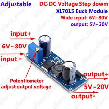 DC-DC Buck Converter Adjustable Regulator 6V~80V 24V 36V 48V 72V to 5V 6V 9V 12V
