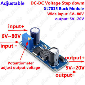 dc dc buck step down voltage converter 6v~80v 24v 36v 48v 72v to 5vla foto se está cargando dc dc buck bajar convertidor de voltaje 6