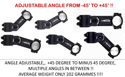TMARS Super Light Adjustable Angle MOUNTIAN BIKE  AHEAD STEM 31.8mm BAR ONLY
