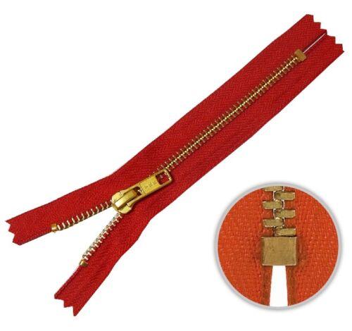 YKK Jeans Reißverschluss 18cm rot 820