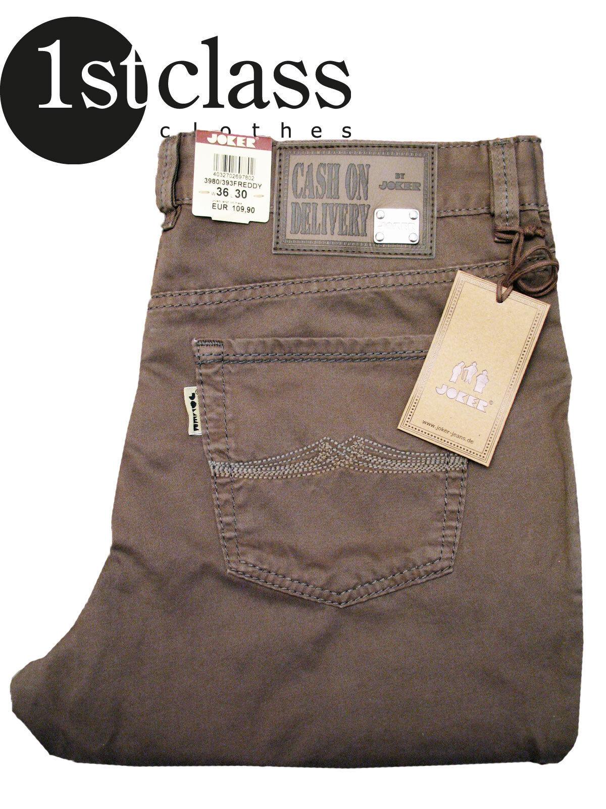 Joker Jeans Freddy 3980 393 Mud Brown Gabardine